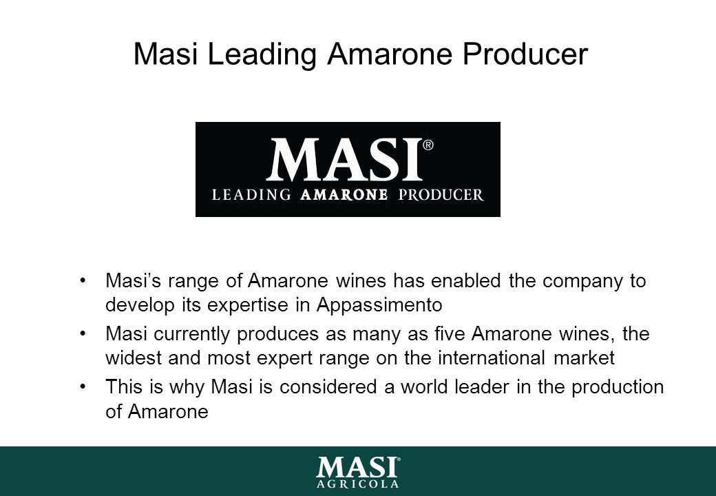 Masi Leading Amarone Producer