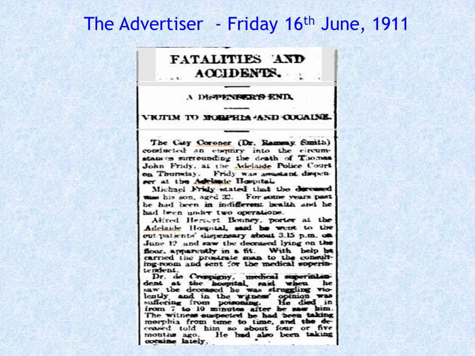 The Advertiser - Friday 16th June, 1911