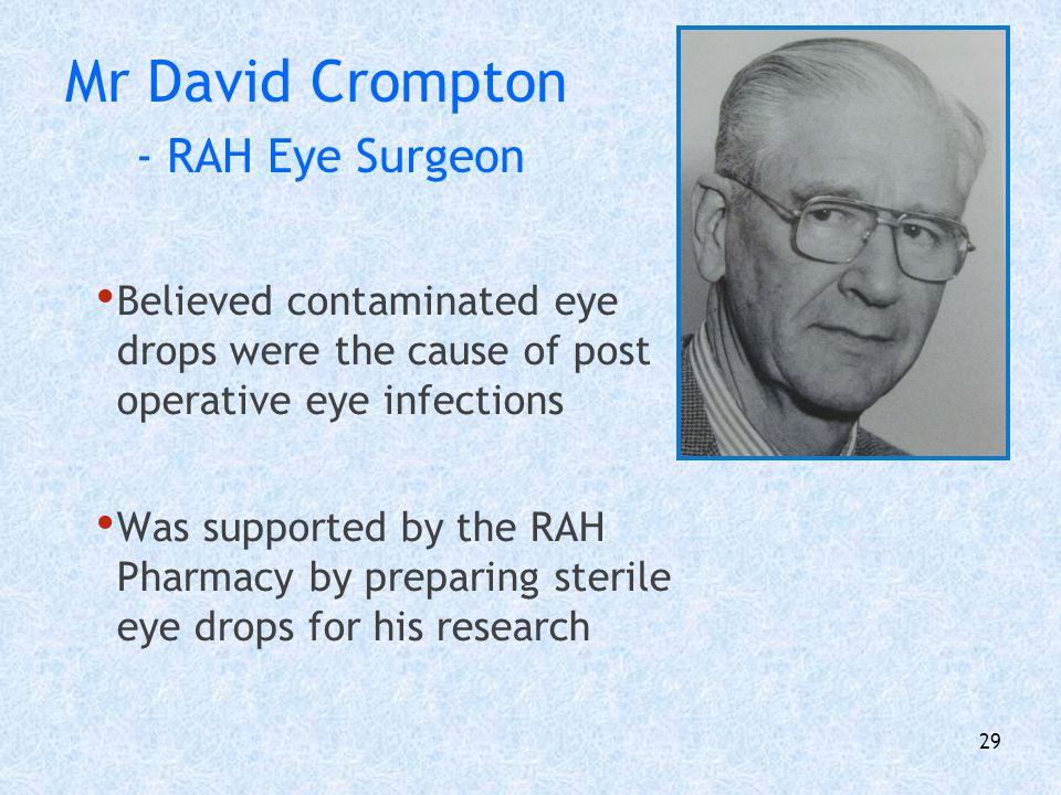 Mr David Crompton - RAH Eye Surgeon