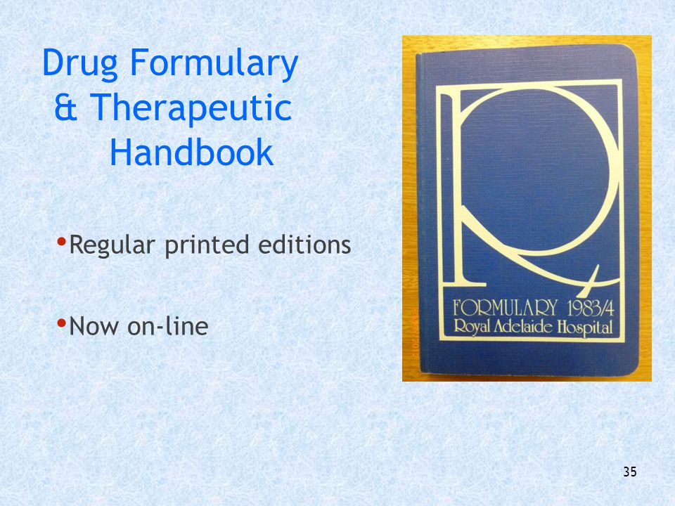 Drug Formulary & Therapeutic Handbook