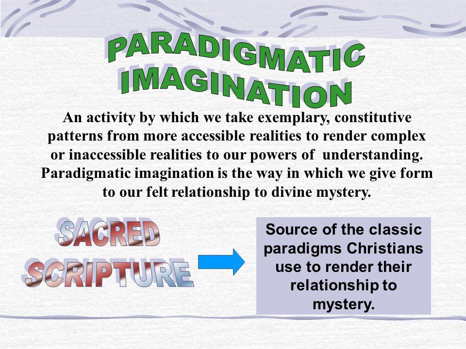 PARADIGMATIC IMAGINATION SACRED SCRIPTURE