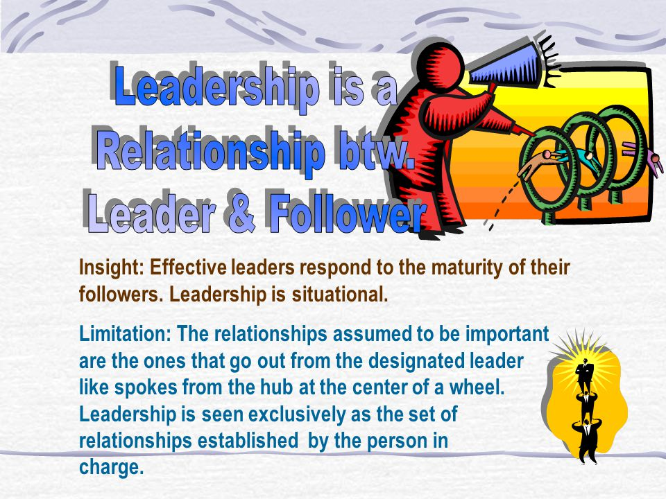 Leadership is a Relationship btw. Leader & Follower