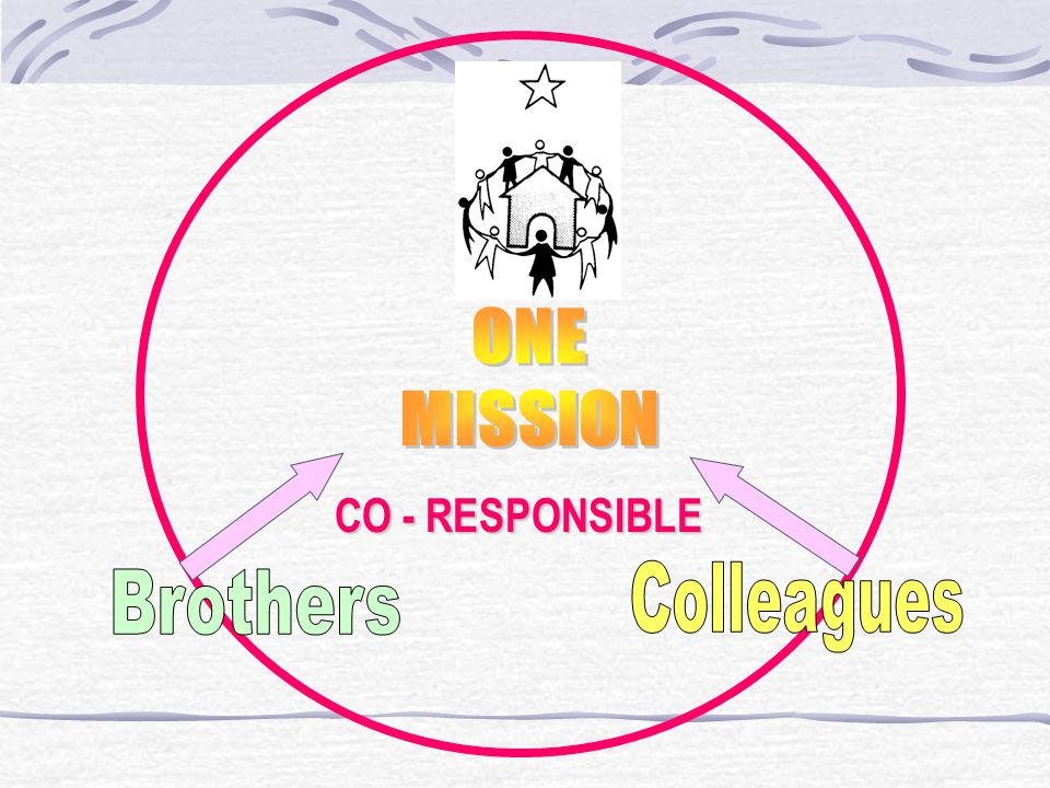 ONE MISSION Brothers Colleagues CO - RESPONSIBLE
