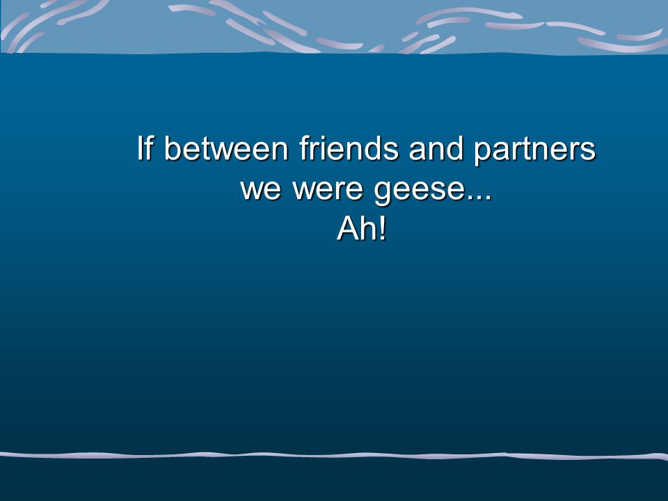 If between friends and partners