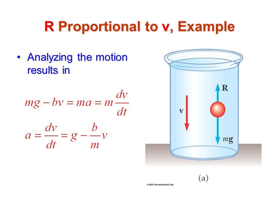 R Proportional to v, Example