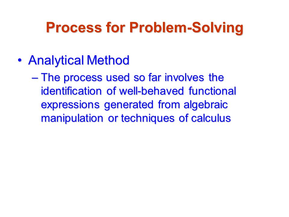 Process for Problem-Solving