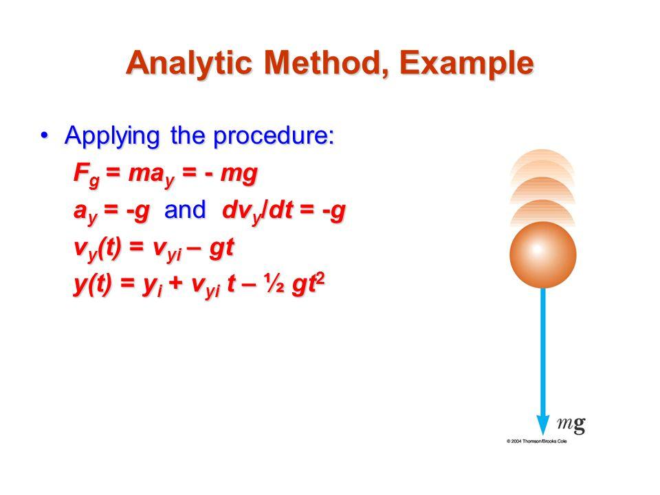Analytic Method, Example