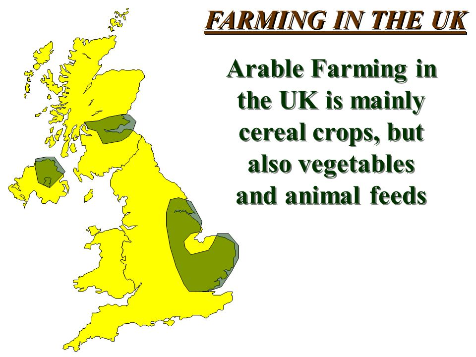 FARMING IN THE UK Arable Farming in. the UK is mainly.