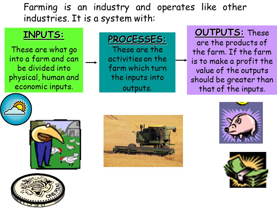 Farming is an industry and operates like other industries