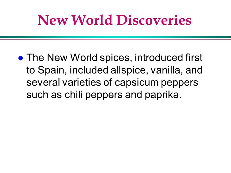 New World Discoveries