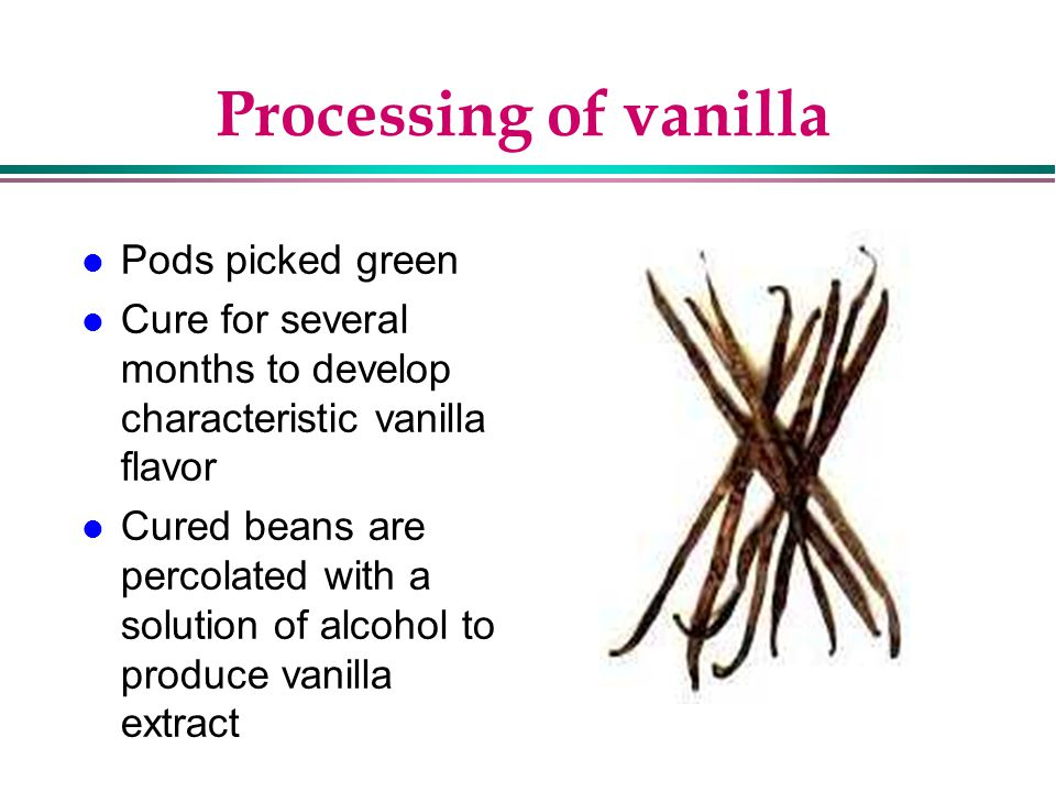 Processing of vanilla Pods picked green