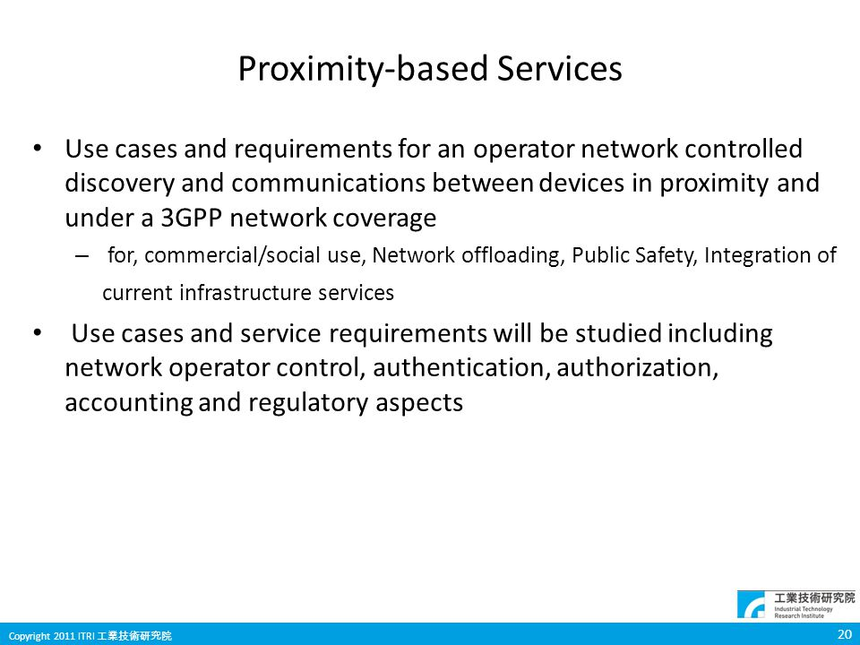 Proximity-based Services