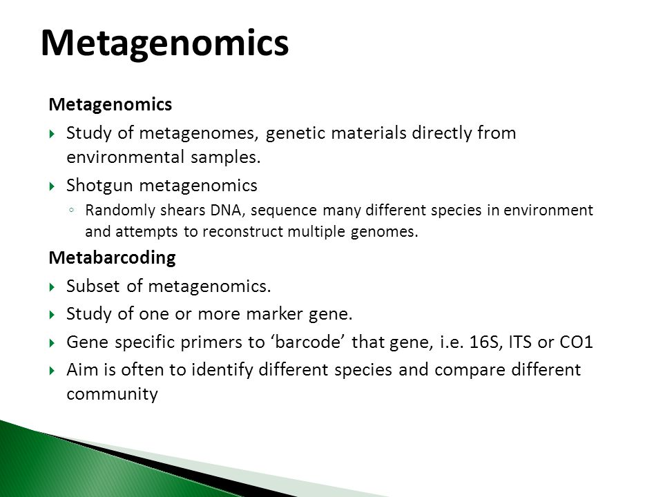 Metagenomics Metagenomics