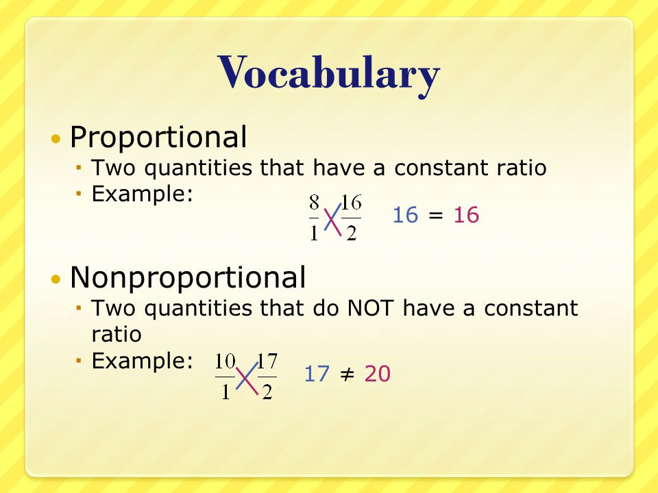 Vocabulary Proportional Nonproportional