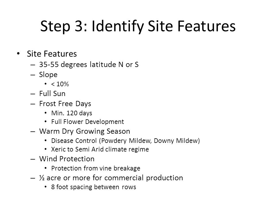 Step 3: Identify Site Features