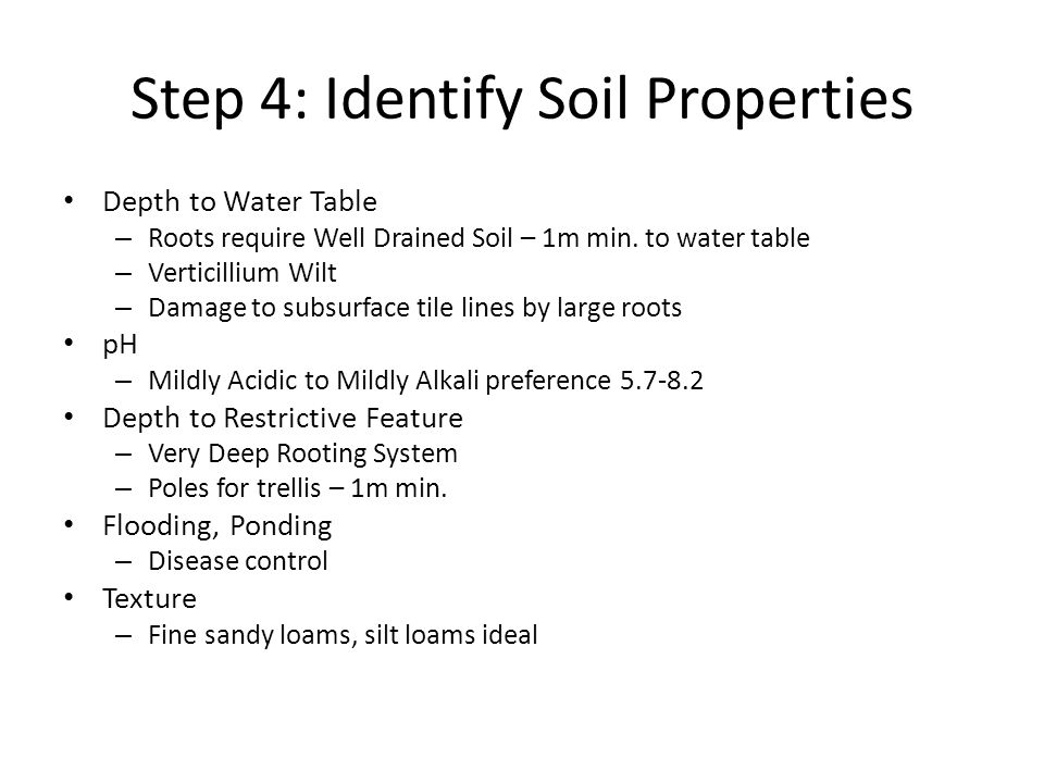 Step 4: Identify Soil Properties