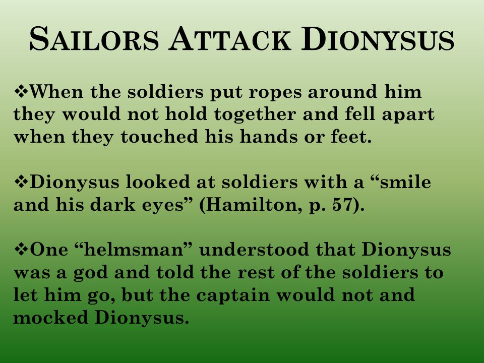 Sailors Attack Dionysus