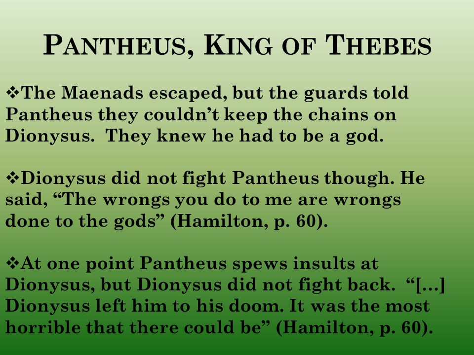 Pantheus, King of Thebes