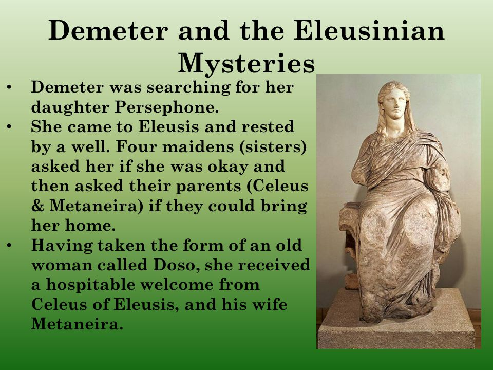 Demeter and the Eleusinian Mysteries