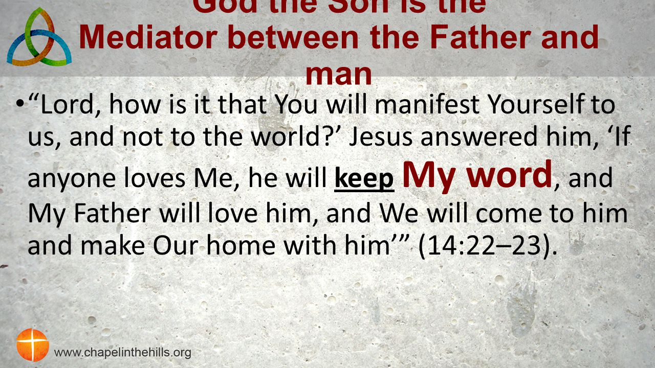 God the Son is the Mediator between the Father and man