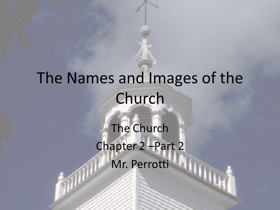 The Names and Images of the Church