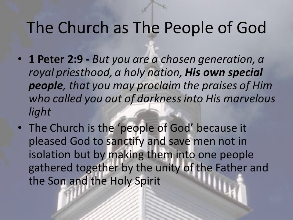 The Church as The People of God
