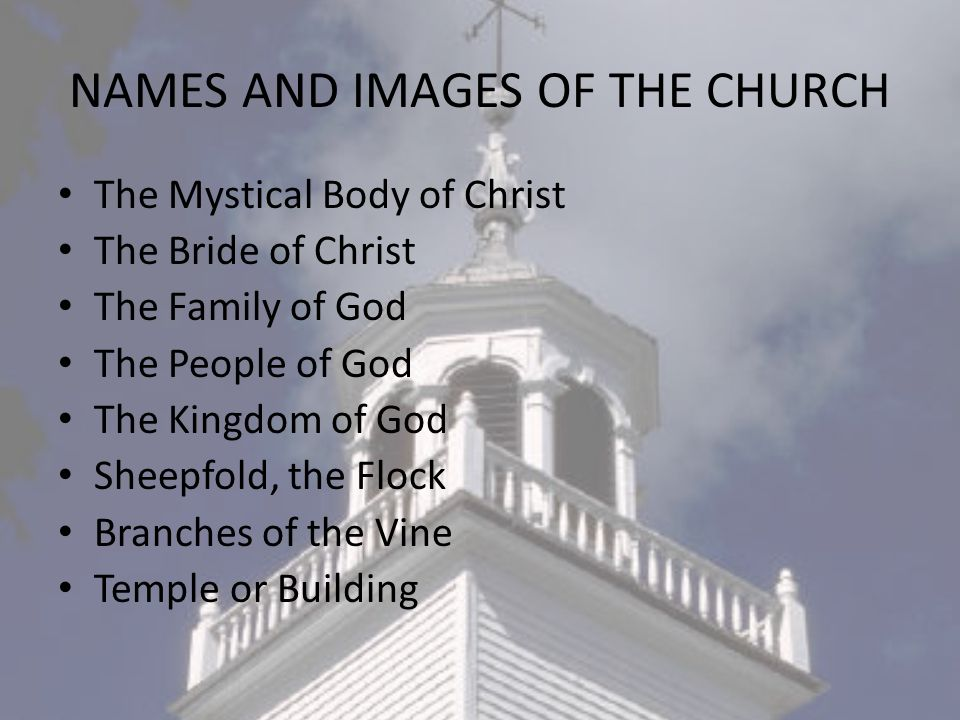 NAMES AND IMAGES OF THE CHURCH
