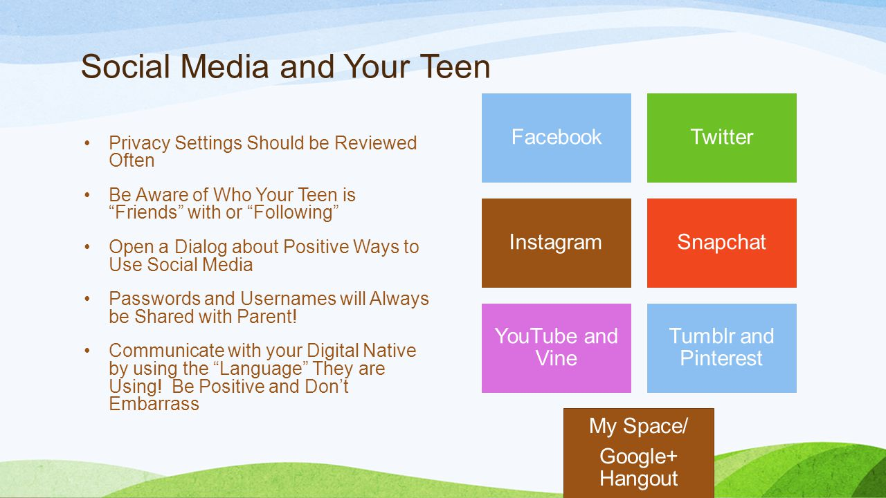 Social Media and Your Teen