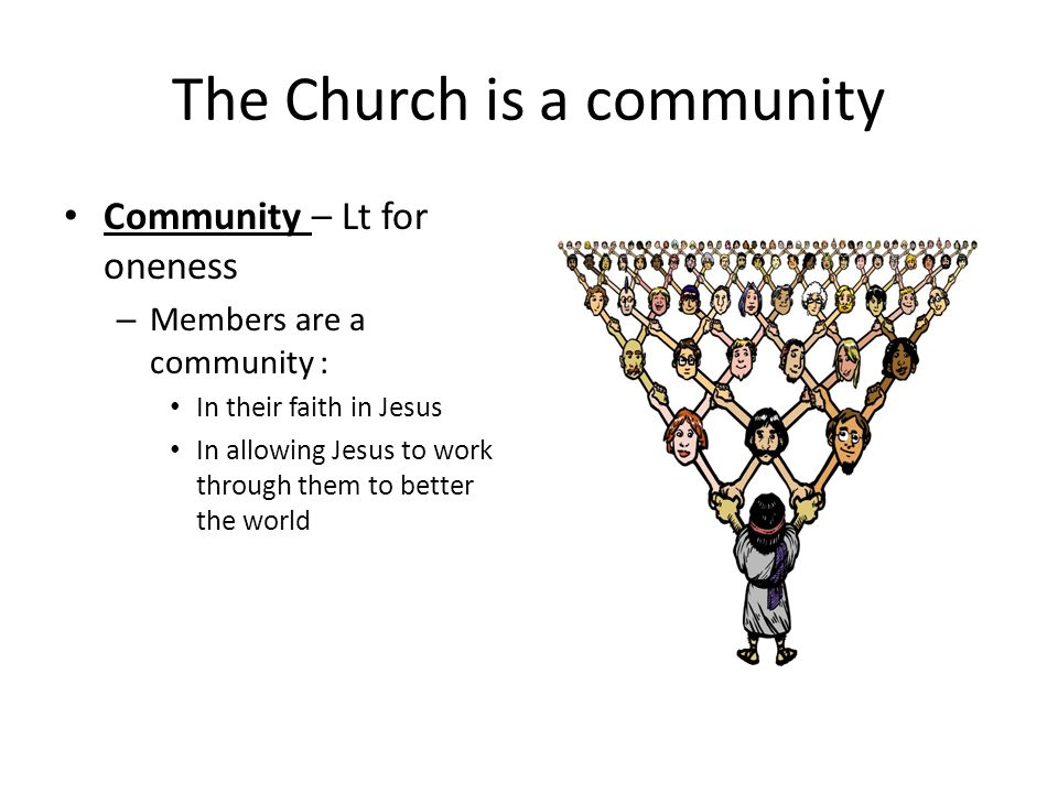 The Church is a community