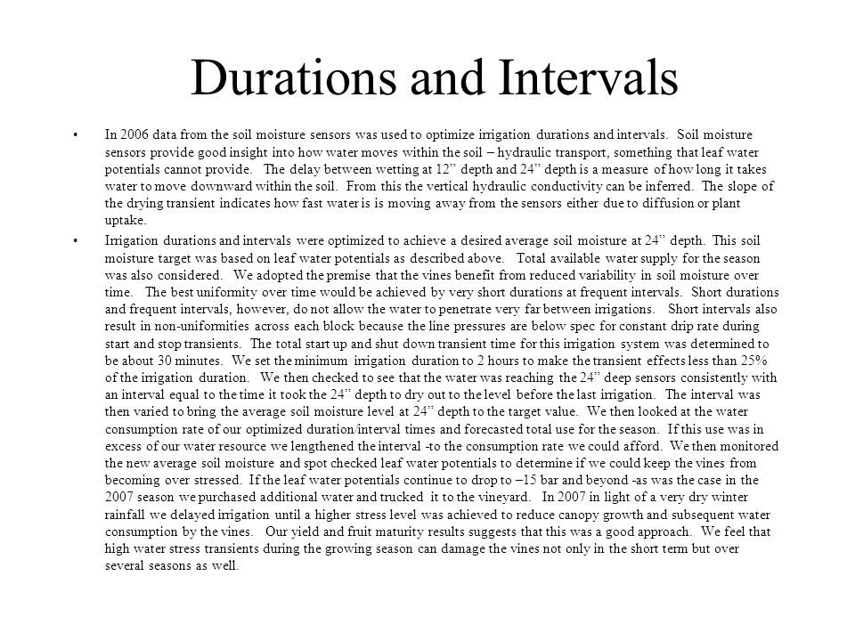 Durations and Intervals