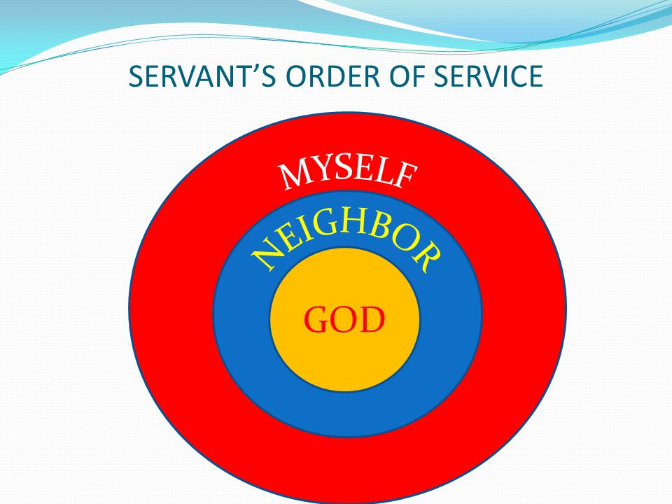 SERVANT'S ORDER OF SERVICE