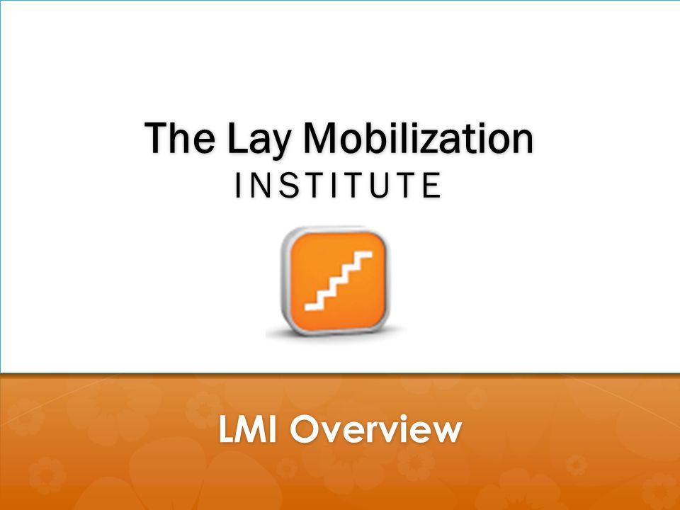 The Lay Mobilization inSTITUTE