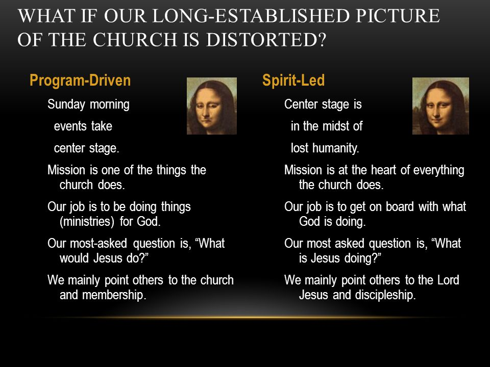 What if our long-established picture of the church is distorted