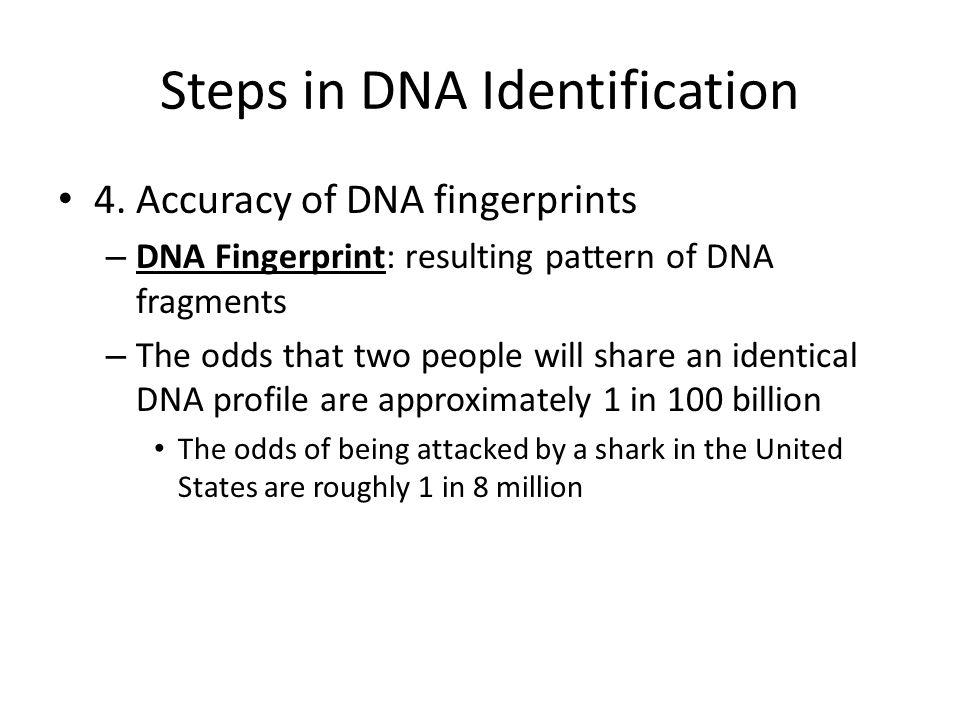 Steps in DNA Identification