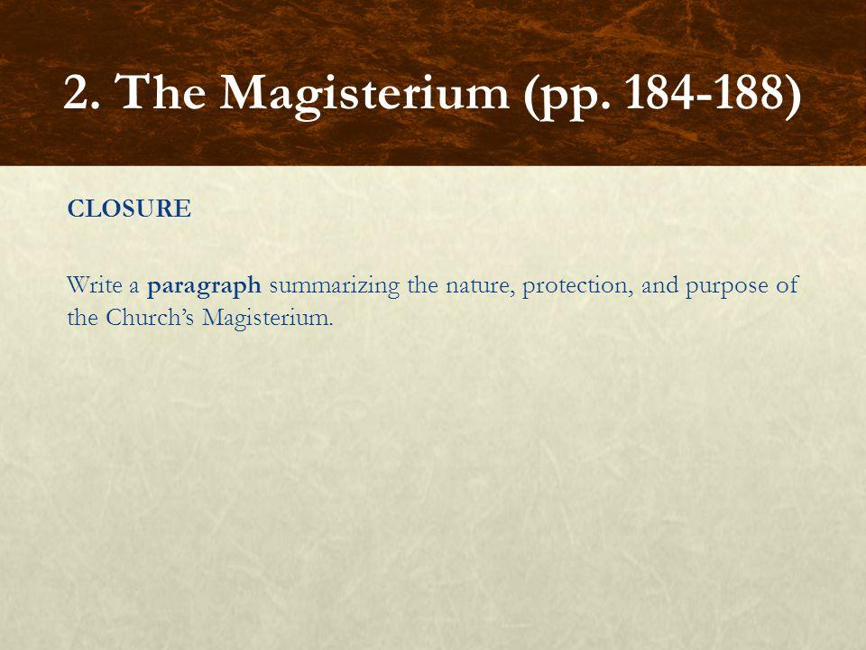 2. The Magisterium (pp.