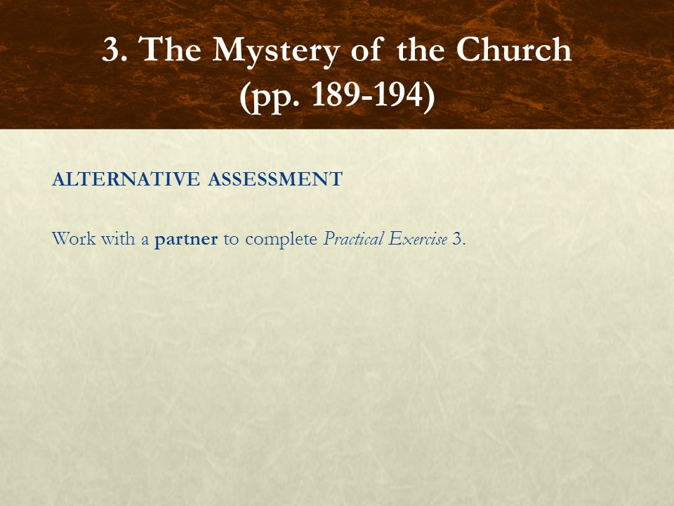 3. The Mystery of the Church (pp. 189-194)