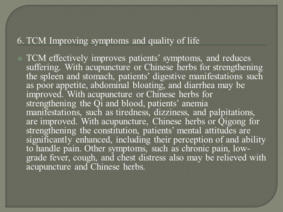 6. TCM Improving symptoms and quality of life