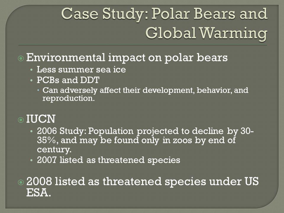 Case Study: Polar Bears and Global Warming