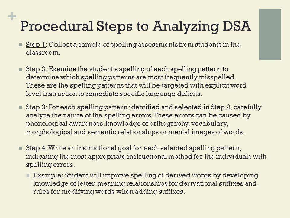 Procedural Steps to Analyzing DSA