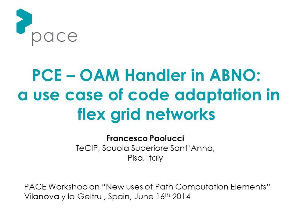 PCE – OAM Handler in ABNO: