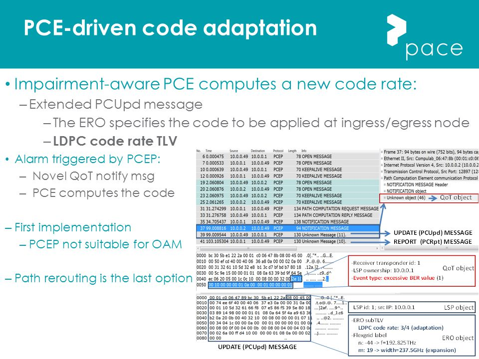 PCE-driven code adaptation