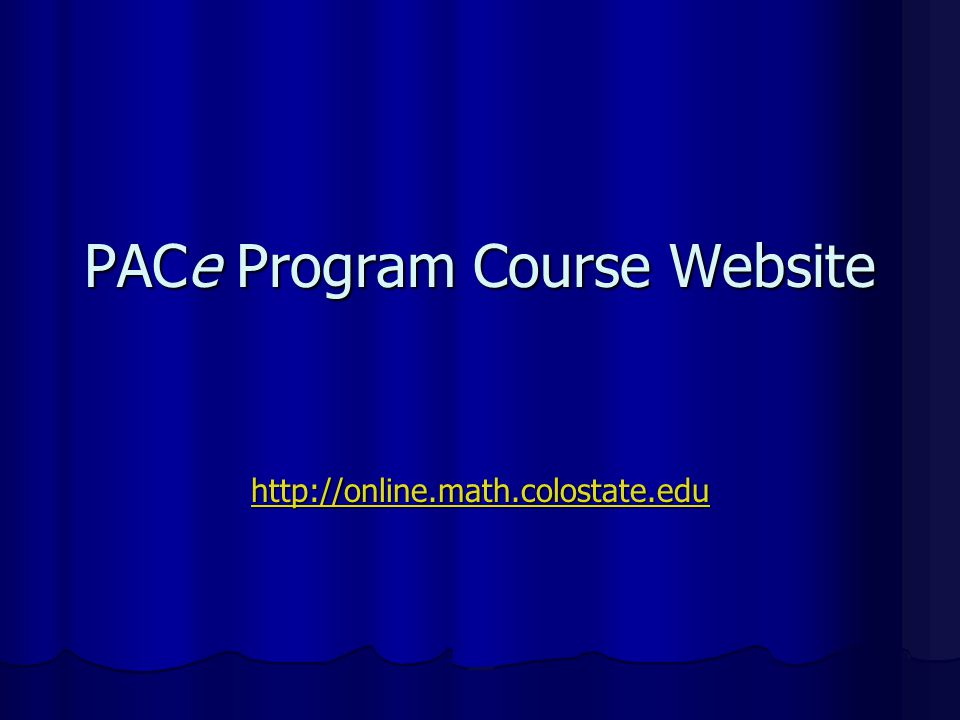 PACe Program Course Website