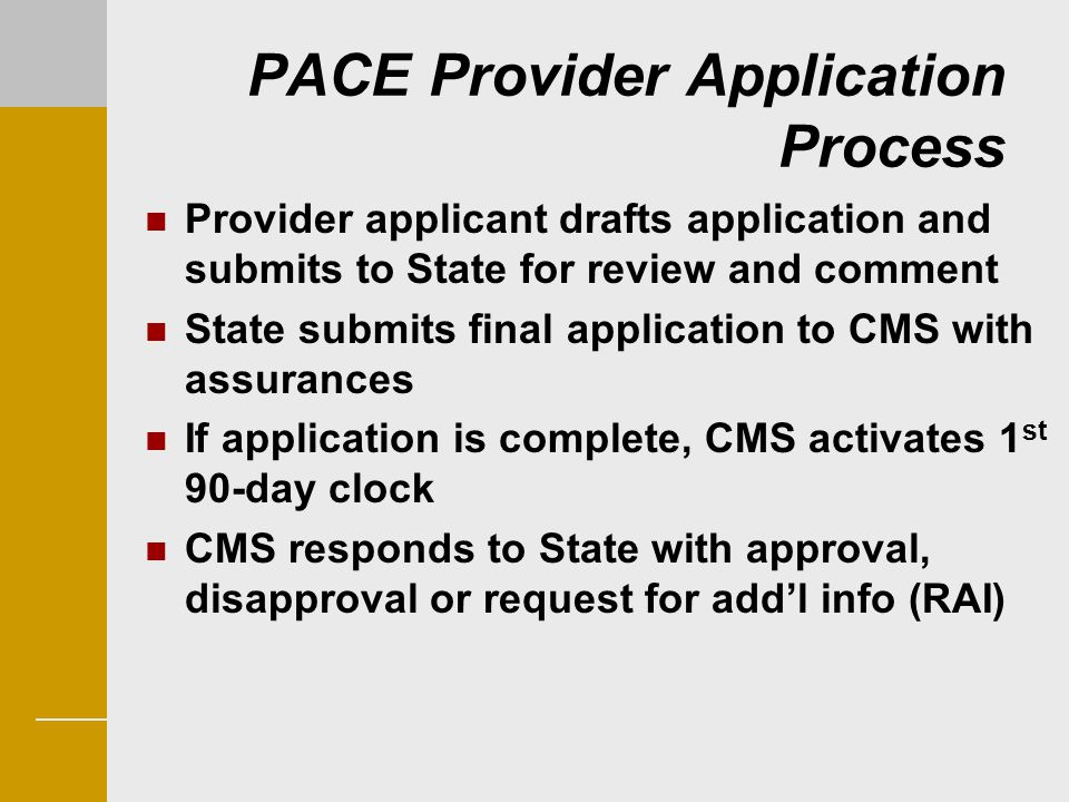 PACE Provider Application Process