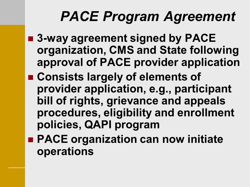 PACE Program Agreement