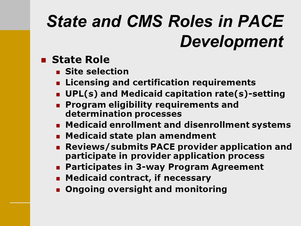 State and CMS Roles in PACE Development