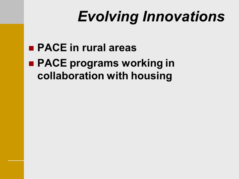 Evolving Innovations PACE in rural areas
