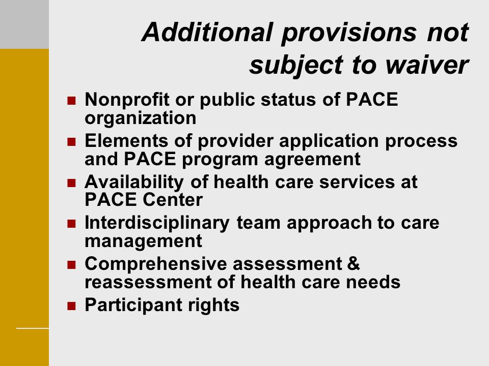 Additional provisions not subject to waiver
