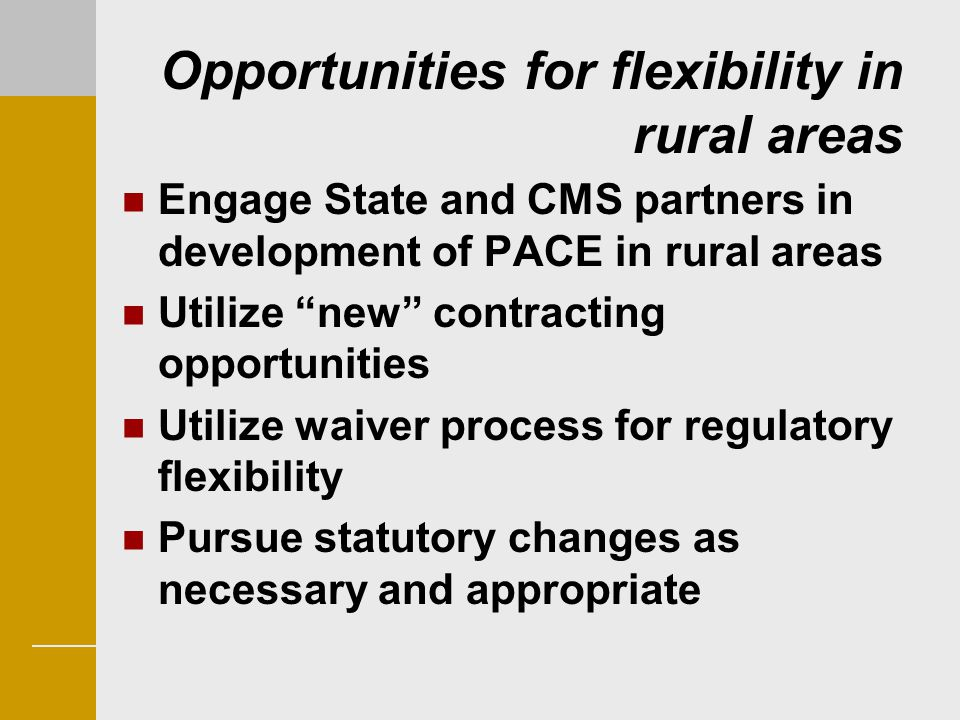 Opportunities for flexibility in rural areas