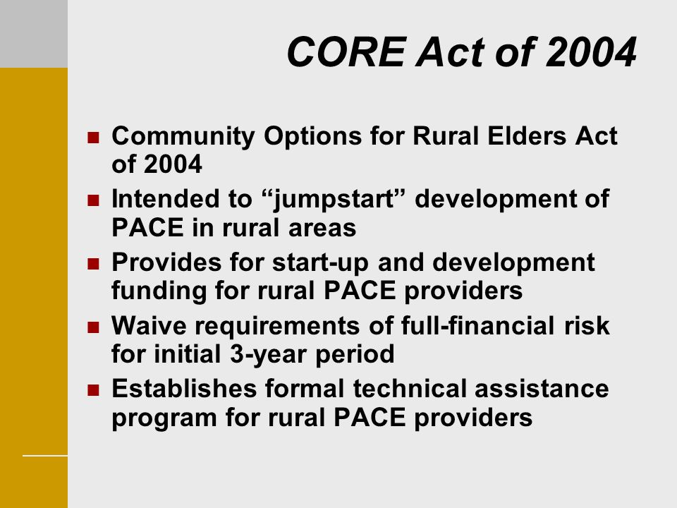 CORE Act of 2004 Community Options for Rural Elders Act of 2004