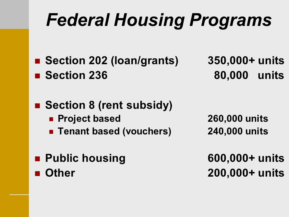 Federal Housing Programs